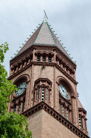 massachusetts: Tower at the town hall in Fairhaven, Massachusetts