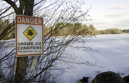 menace: Frozen pond may not be safe for walking