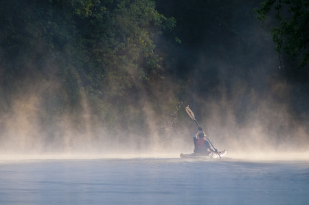 disappears: Lone kayaker disappears into the early morning mist