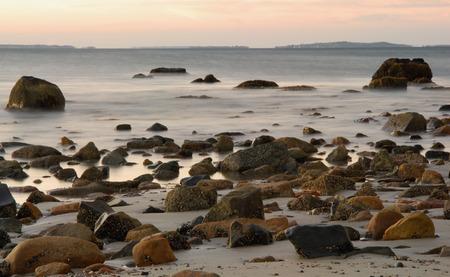 shorelines: Shoreline at dawn looking toward Cuttyhunk island