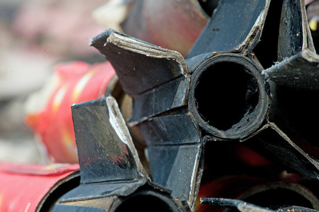 detritus: Burnt out casing from Fourth of July rocket
