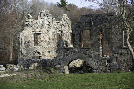 southeastern: Remains of historic mill in southeastern Massachusetts Stock Photo