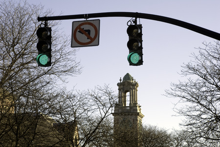 Steeple en stoplichten