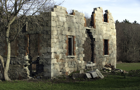 Remains of historic mill in southeastern Massachusetts Reklamní fotografie