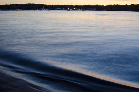 upstream: Evening sets in on boat trip upstream on Connecticut River