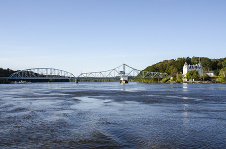 East Haddam Swing Bridge over the Connecticut River has the reputation for being the longest swing bridge in the world Stock fotó