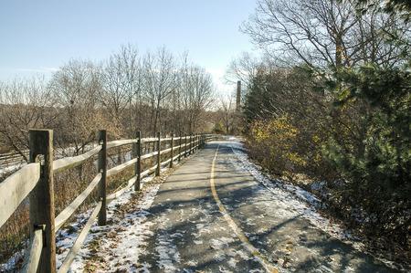 bikeway: Trees slow melting along Blackstone River Bikeway