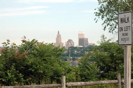 providence: Providence skyline from East Bay Bike Path