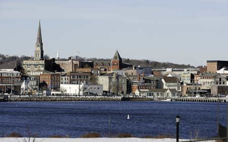 View of New London from Fort Trumbull State Park Stock Photo - 69969990