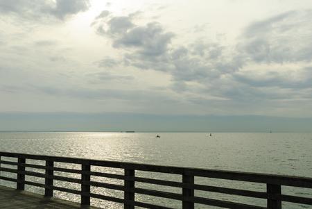 gloom: Moody winter day on Coney Island pier