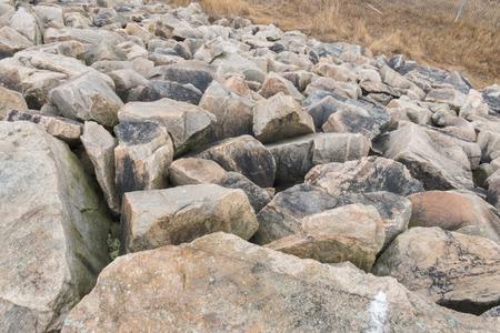 Granietkeien die orkaanslag vormen bij de Steeg van Egypte in Fairhaven, Massachusetts