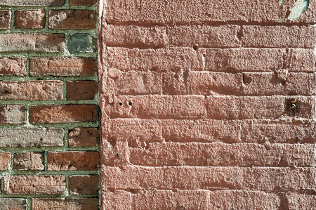 Brick wall butted up against brick wall