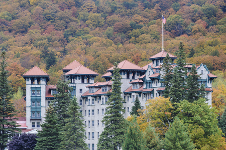 Dixville Notch, New Hampshire, USA -  October 1, 2009: The Balsams resort in Dixville New Hampshire, before planned redevelopment expected to begin in 2016