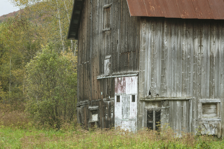 Ramshackle barn sealed up and no longer in use