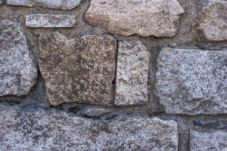 Stone wall beginning to show cracks and gaps in mortar