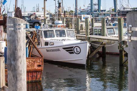Fairhaven, Massachusetts, USA - September 8, 2019: Lobster boat Mountaineer docked at Union Wharf Redakční