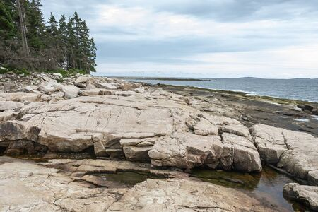 Following the Wonderland Trail along the Gulf of Maine Stock Photo