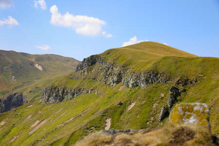 Mountains, rock and landscape in Auvergne. Massif du Sancy in the chain of puys in France. 写真素材