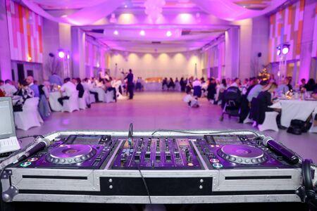Dj deck during a Wedding - Beatmaker during a Wedding Anniversary evening.