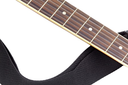 fingerboard: Isolated acoustic guitar fingerboard