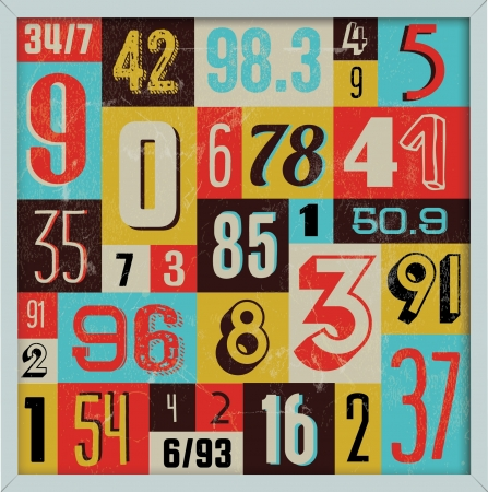 headpiece: Various Vintage Number Collection  For High Quality Graphic Projects