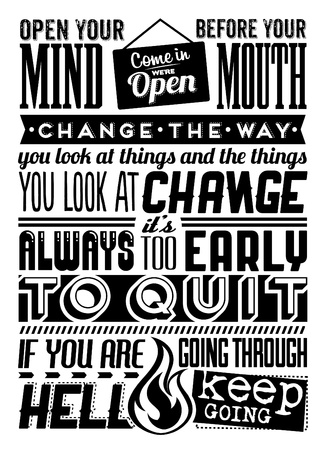 Set of Retro Vintage Motivational Quotes with Calligraphic and Typographic Elements Stock Vector - 18980554