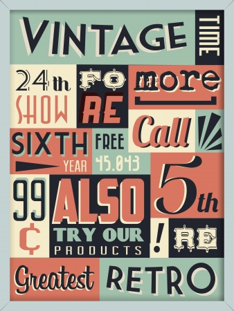 Retro Vintage Background with Typography