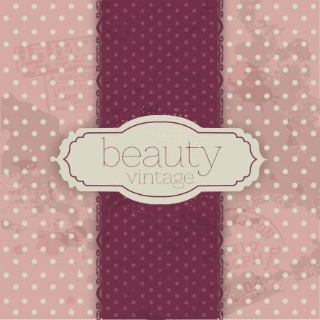 beau: Valentines Day Vintage Template Background