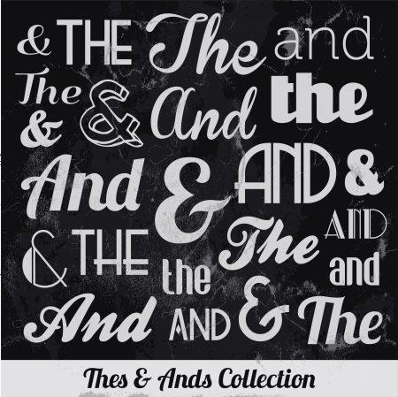Various Vintage Thes   Ends Collection  For High Quality Graphic Projects Illustration