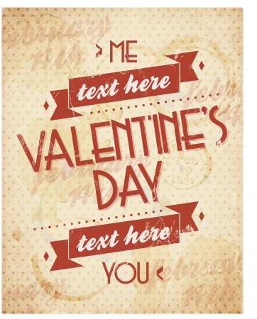 beau: Valentines Vintage Background