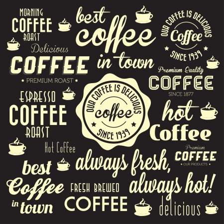 Retro Coffee Badges and Labels Collection  For High Quality Graphic Projects