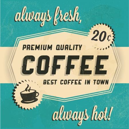 retro background: Retro Vintage Coffee Background with Typography