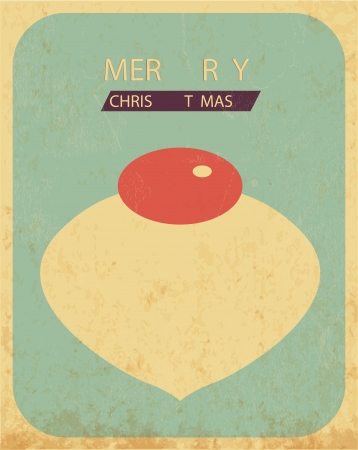 Retro Vintage Minimal Merry Christmas Background with Grunge Effect