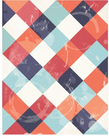 Abstract squary colorful retro background Illustration