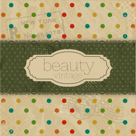 Vintage Template Background Vector