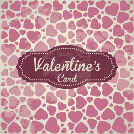 Valentines Day Vintage Template Background