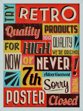 background vintage: Retro Vintage Background with Typography