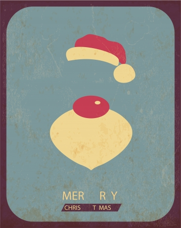 word art: Retro Vintage Minimal Merry Christmas Background with Grunge Effect