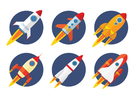 Rocket Icon Flat Design