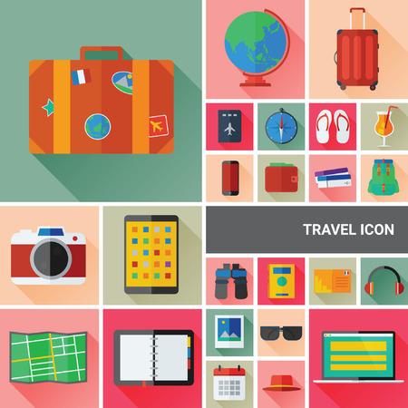 travel icon: Reizen Icon Collection Stock Illustratie