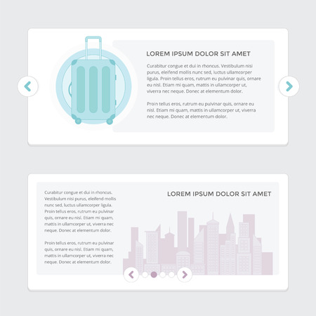 slider: Web Slider with stack of paper in the background Illustration
