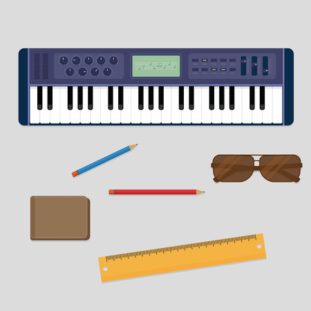 keyboard player: Keyboard player musician stuff from the top