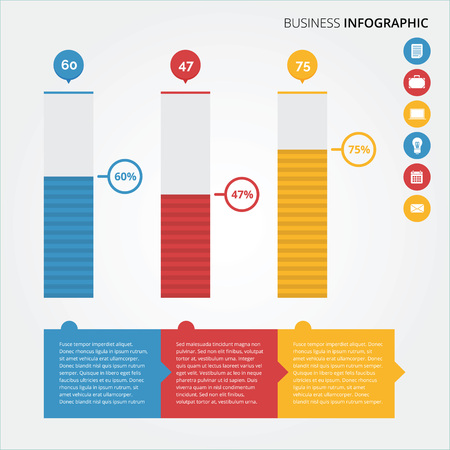 Business  Finance infographic with flat and modern design