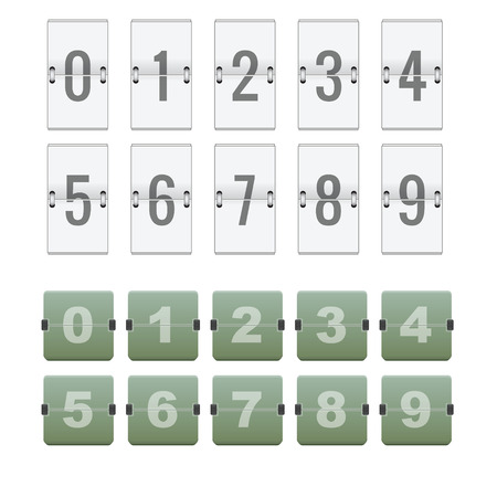 flipboard: Numeric flipboard counter with 2 different style