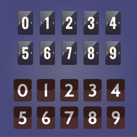 Numeric flipboard counter with 2 different style