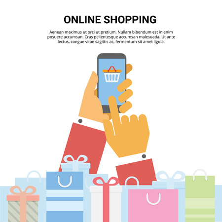 Online shopping using cellphone in holiday seasons