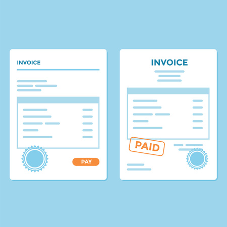 Invoice paper with two variation and style Illustration