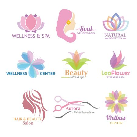 Logo Beauty Spa and Salon Woman Hair and also Salon Illustration