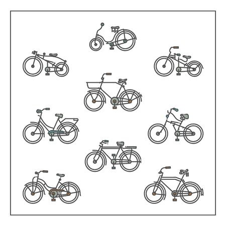 Linear and modern bicycle icon with flat design