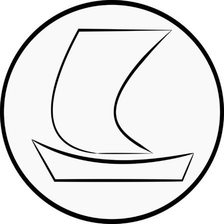 sea transport: Simple Yacht illustration Illustration